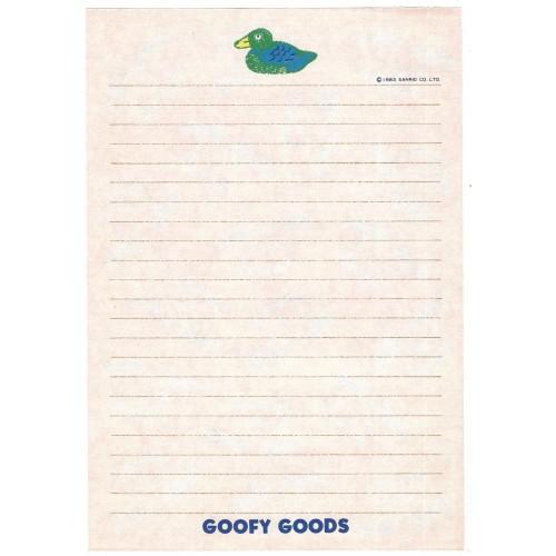 Ano 1983. Papel de Carta AVULSO Goofy Goods Sanrio