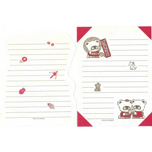 Ano 1989. Conjunto 2 Papéis de Carta Pokopon's Diary Vintage Sanrio