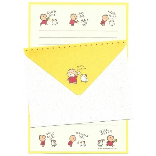 Ano 1990. Conjunto de Papel de Carta Minna no Tabo CAM Vintage Sanrio