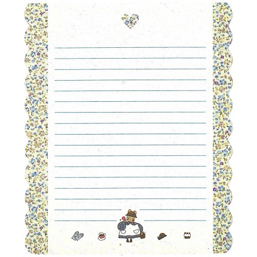 Ano 1991. Papel de Carta Marron Cream CAZ Vintage Sanrio