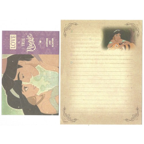 Conjunto de Papel de Carta Jasmine and Aladdin Disney