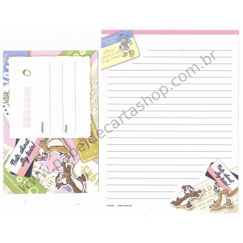 Conjunto de Papel de Carta Importado Disney Chip'n'Dale II Japan