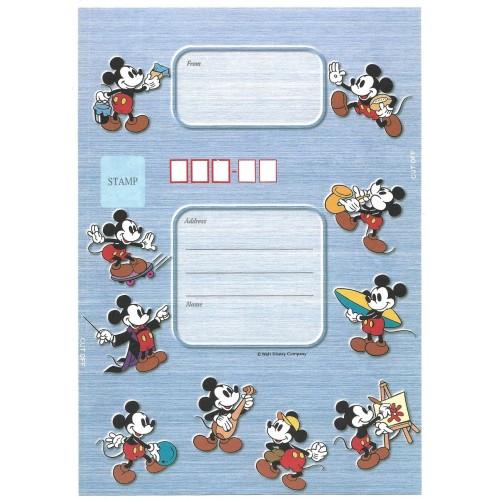 Papel de Carta dobrável ANTIGO VINTAGE Mickey Mouse CAZ JP