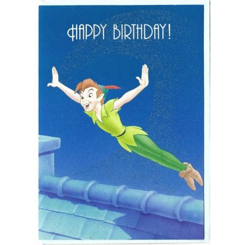 Cartão Antigo Vintage Importado Disney Peter Pan Gibson