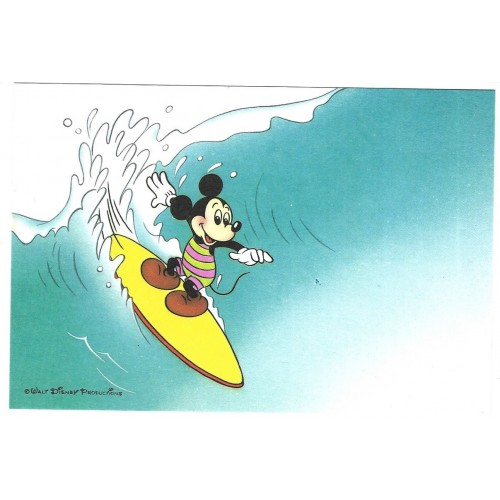 Postcard Antigo Vintage Disney Mickey Surfing LYRIC JAPAN