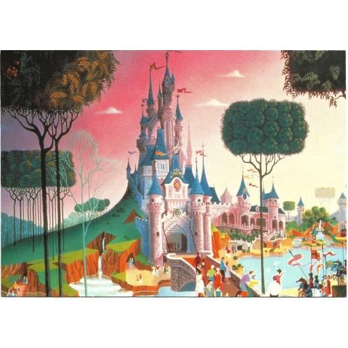 Postcard Antigo Vintage EURO Disney Fantasyland O Castelo da Bela Adormecida
