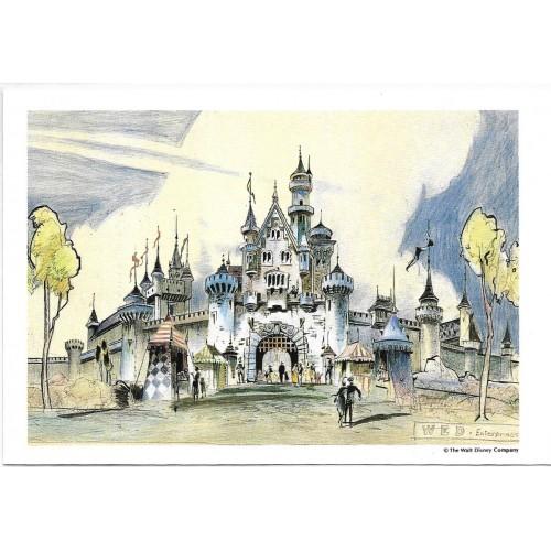 Postcard Antigo Vintage TOKYO Disneyland Sleeping Beauty Castle
