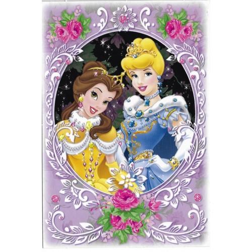 Postcard Antigo Vintage Disney Princess CLL BANDAI 2008 JAPAN