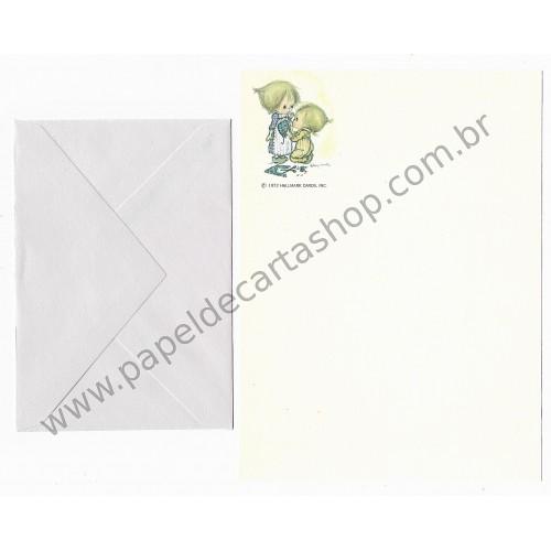 Ano 1972. Conjunto de Papel de Carta ANTIGO BETSEY Clark - Costurando