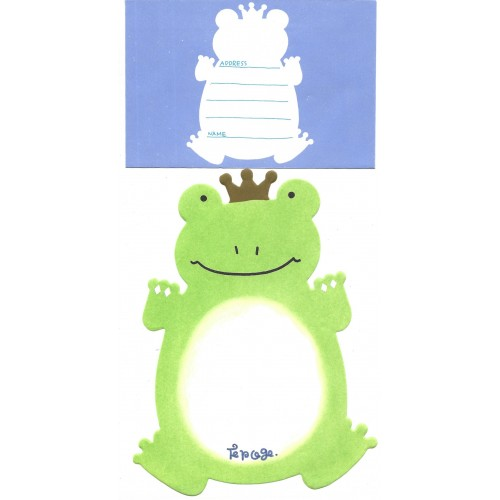 Conjunto de Papel de Carta Importado Alpha Point The King The Frog DC