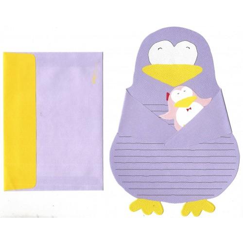 Conjunto de Papel de Carta Importado Penguin CLL DC