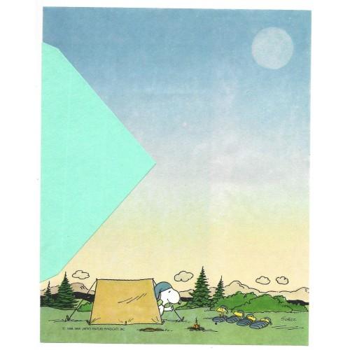 Papel de Carta ANTIGO SNOOPY Acampamento Hallmark CROWN