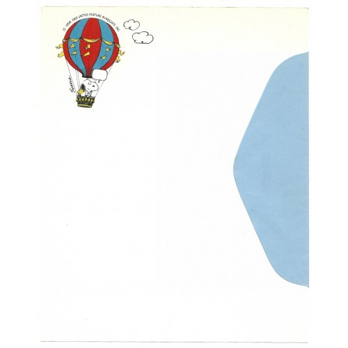 Papel de Carta ANTIGO SNOOPY Balão Hallmark CROWN