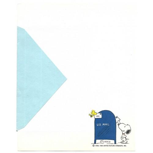 Papel de Carta ANTIGO SNOOPY Mail Hallmark CROWN