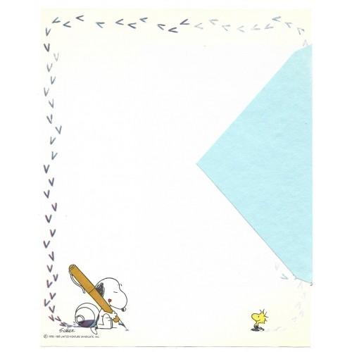 Papel de Carta ANTIGO SNOOPY Tinta Hallmark CROWN