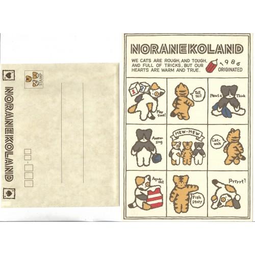 Ano 1988. Conjunto de Papel de Carta Noraneko Vintage Sanrio