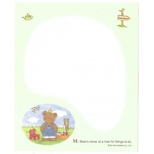 Ano 1994. Coleção de Papel de Carta Mr Bear's Dream Vintage Sanrio