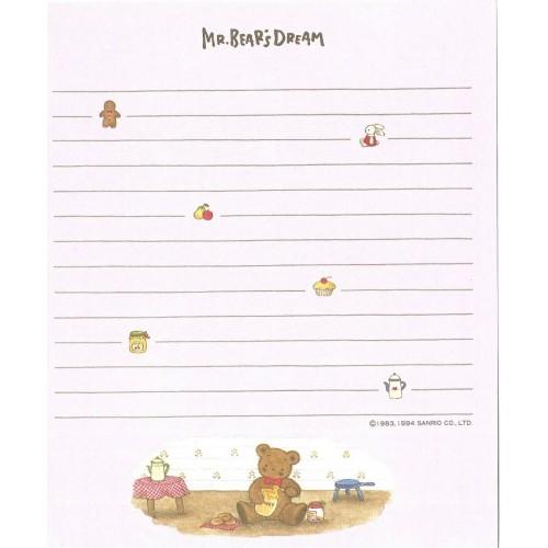 Ano 1994. Kit 10 Papéis de Carta Mr Bear's Dream Vintage Sanrio