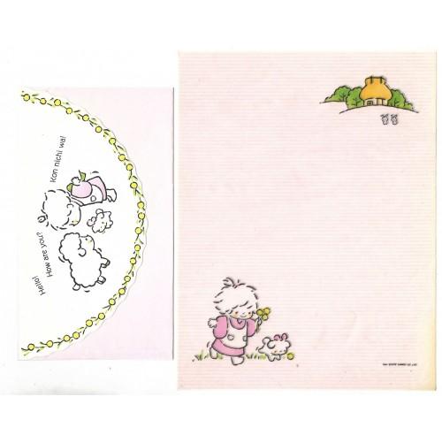 Ano 1976. Conjunto de Papel de Carta Tiny Poem VEG Sanrio