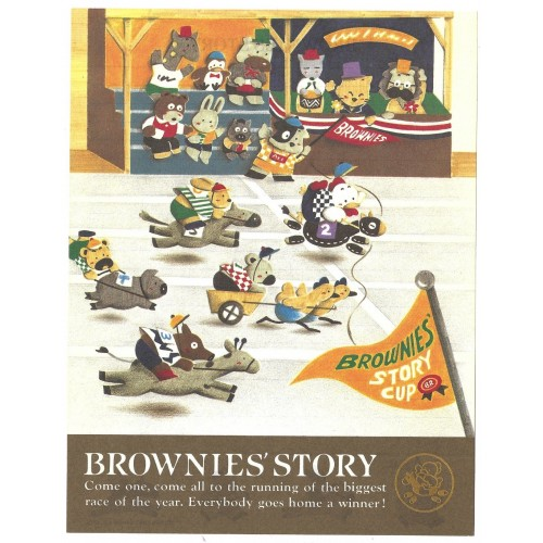 Ano 1991. Kit 4 Papéis de Carta Brownie's Story Vintage Sanrio