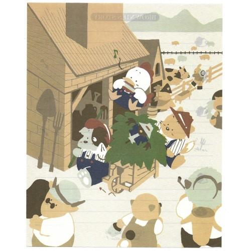 Ano 1986. Conjunto de Papéis de Carta Brownie's Story MM Vintage Sanrio