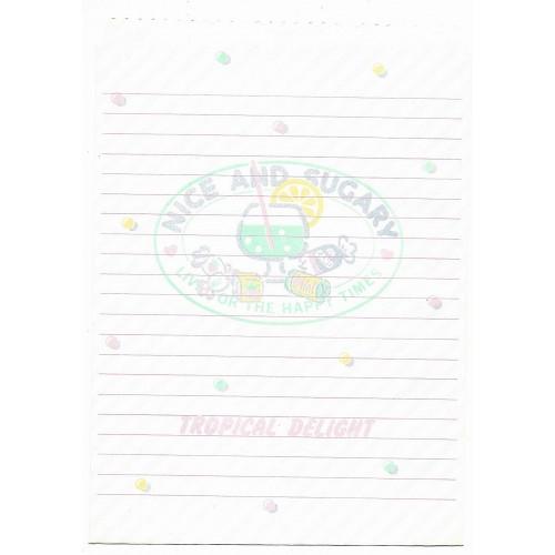 Ano 1979. Saco de Papel Tropical Delight NICE & SUGARY Vintage Sanrio
