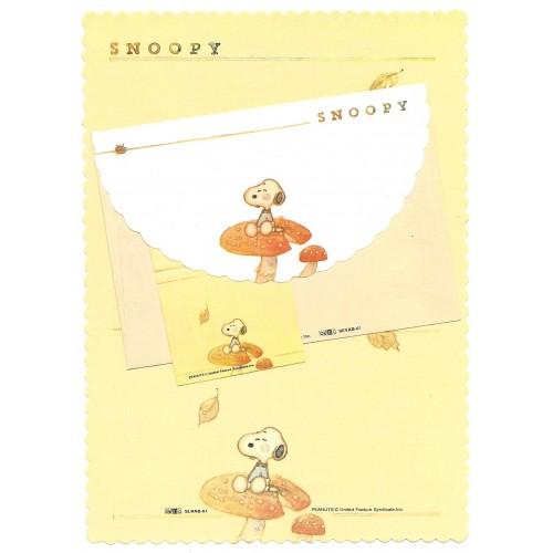 Conjunto de Papel de Carta Snoopy CLA Vintage Peanuts Hallmark Denz