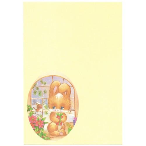 Papel de Carta Antigo Cristina Bichinhos NATAL (CAM2)