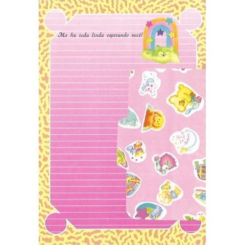 1030. Conjunto de Papel de Carta Coleção Cristina Baby Zoo