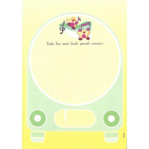 1039. Papel de Carta Coleção Cristina Baby Zoo