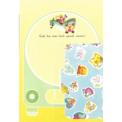 1039. Conjunto de Papel de Carta Coleção Cristina Baby Zoo