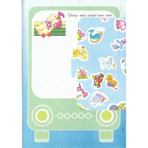 1040. Conjunto de Papel de Carta Coleção Cristina Baby Zoo