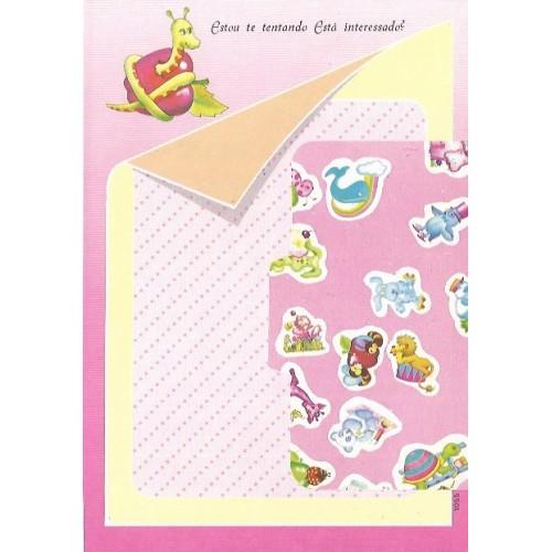 1055. Conjunto de Papel de Carta Coleção Cristina Baby Zoo