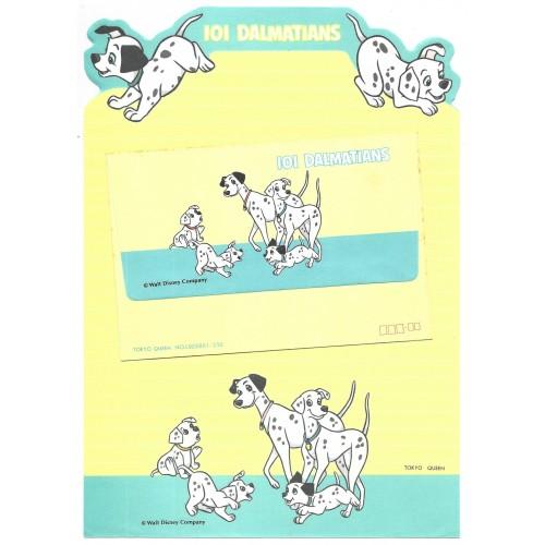 Conjunto de Papel de Carta VINTAGE Disney 101 Dalmatians CTU TOKYO QUEEN