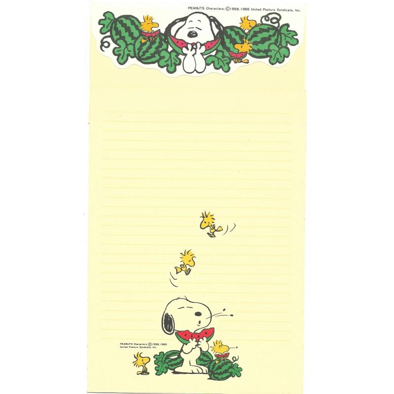 Kit 2 Conjuntos de Papel de Carta Snoopy Watermelon Hallmark Japan