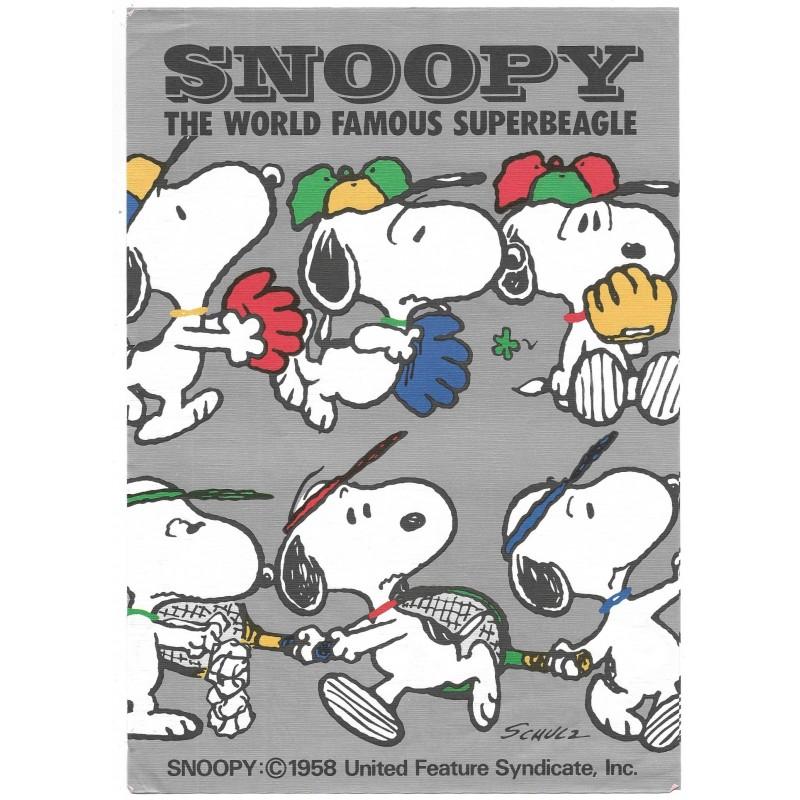 Conjunto de Papel de Carta Snoopy Sports Antigo Vintage Peanuts