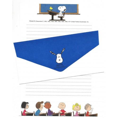 Conjunto de Papel de Carta Snoopy & Woodstock Vintage Hallmark