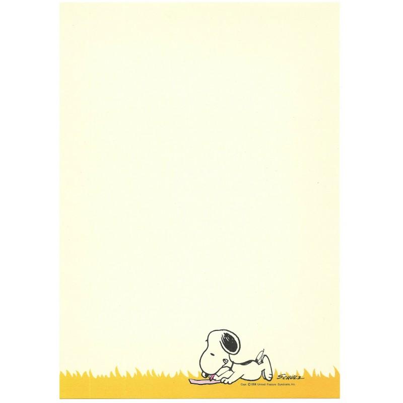 Papel de Carta Peanuts Mate Vintage Hallmark Japan