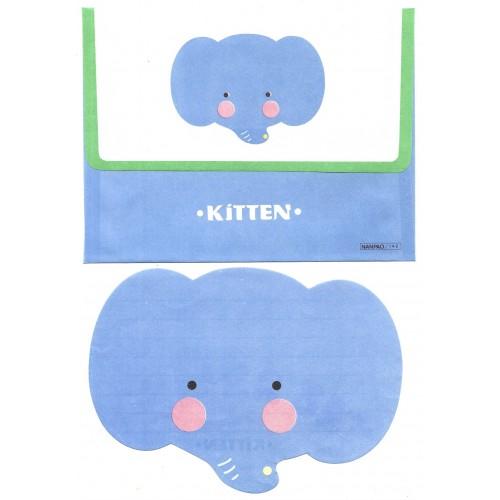 Conjunto de Papel de Carta Antigo PERFUMADO KITTEN Elephant NANPAO Sweden