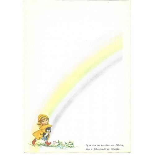 Papel de Carta Antigo Little Rainbows 5