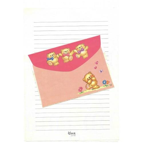 Conjunto de Papel de Carta Importado Bears MIK LT-82