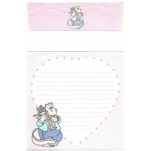 Conjunto de Papel de Carta Antigo Importado DINO