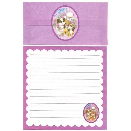 Conjunto de Papel de Carta Antigo Importado Bichinhos CLL