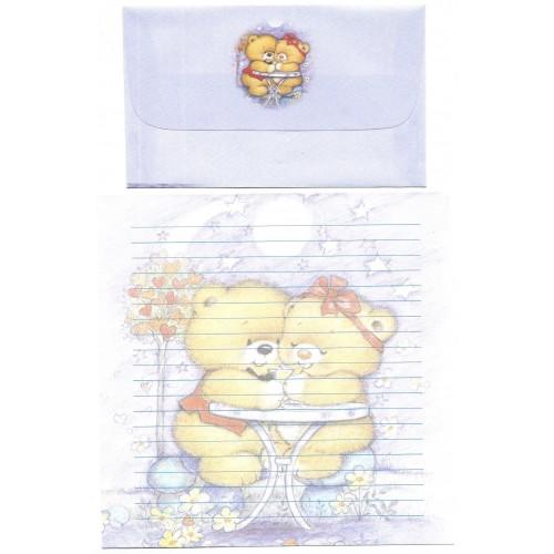 Conjunto de Papel de Carta Antigo Importado Bears 1