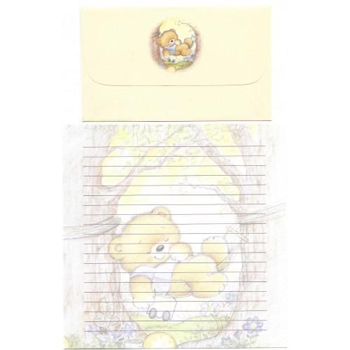 Conjunto de Papel de Carta Antigo Importado Bears 2