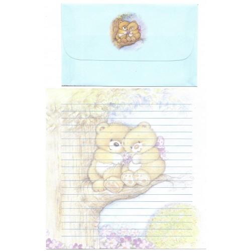 Conjunto de Papel de Carta Antigo Importado Bears 3