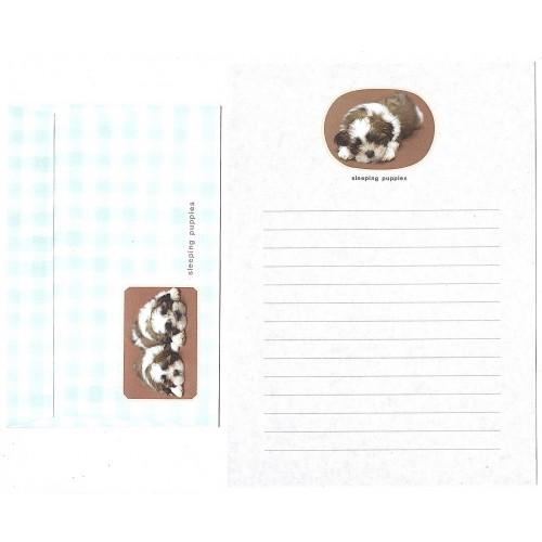 Conjunto de Papel de Carta Antigo Importado Sleeping Puppies