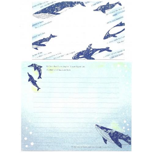 Conjunto de Papel de Carta Antigo Importado Whale