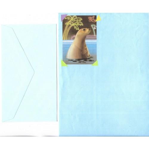 Conjunto de Papel de Carta Antigo Importado Foca