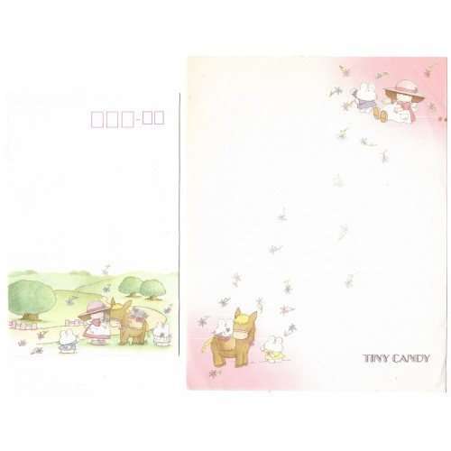 Conjunto de Papel de Carta Vintage Tiny Candy Gakken